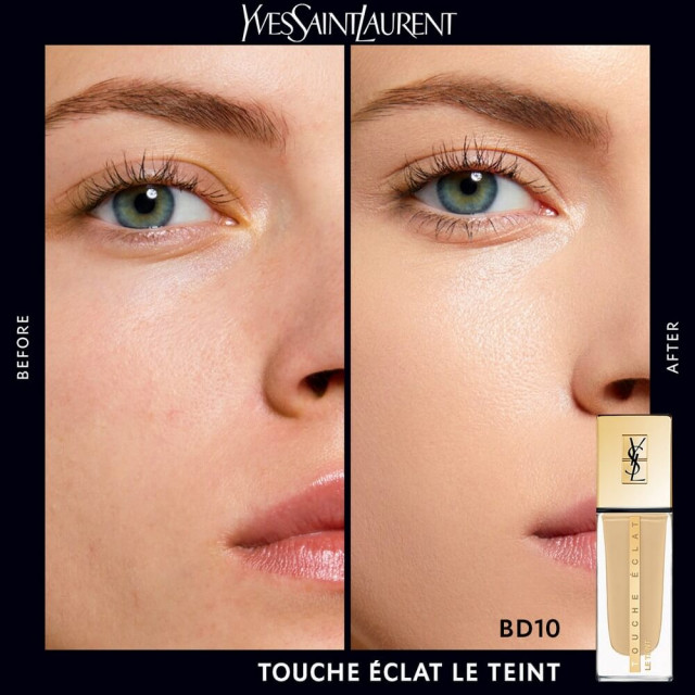 NEW - Touche Éclat - Le Teint | Fond de teint fluide hydratant, longue tenue 24h au fini naturel et lumineux