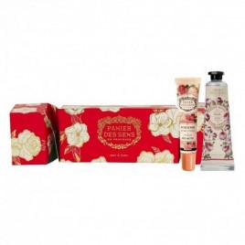 Cracker de Noël à la rose - PANIER DES SENS|Crème mains+baume à lèvres à la Rose