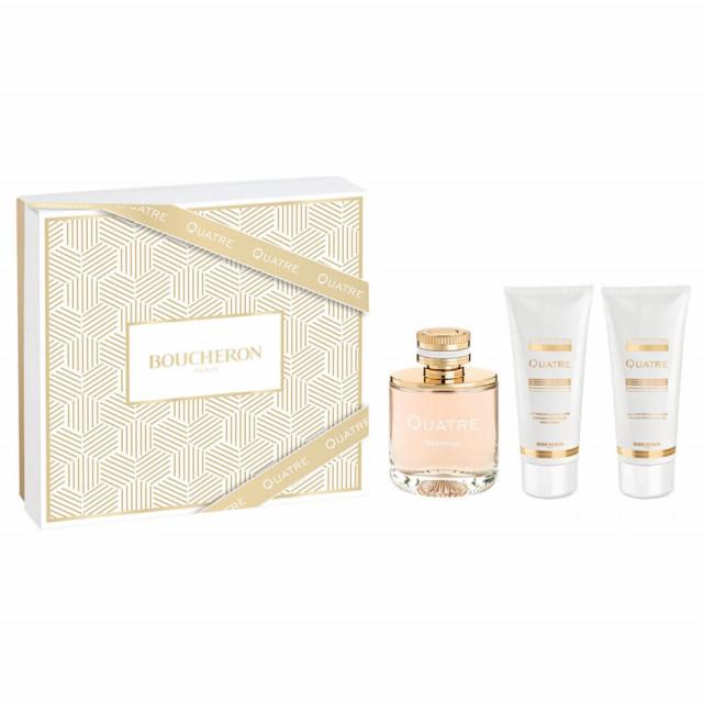 Quatre   Coffret Eau de Parfum 50 ml + Lait Parfumé pour le Corps 50 ml + Gel Parfumé Bain et Douche 50 ml