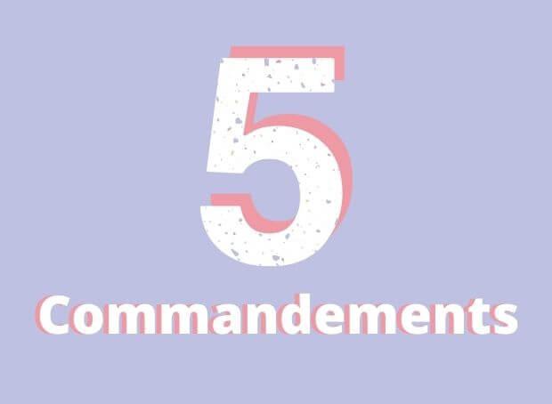 5 commandements pour une belle peau